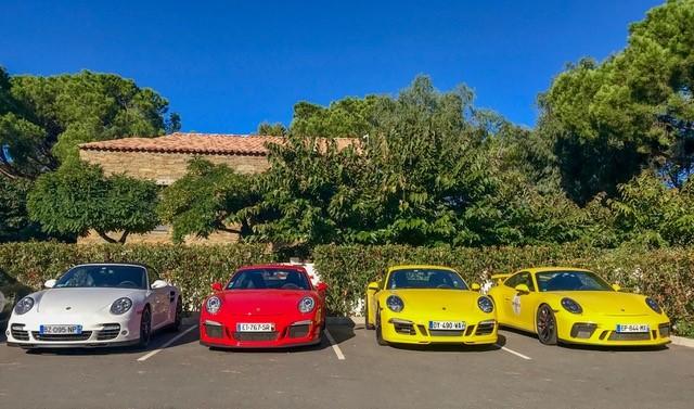Porsche rally in Corsica